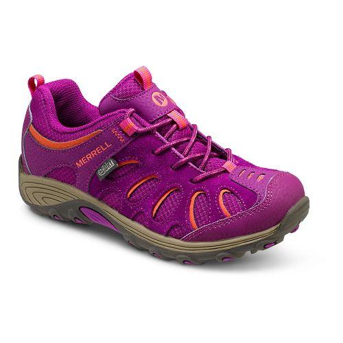 Kids Merrell Chameleon Low Lace Waterproof Hiking Shoe - Fuchsia/Orange 4.5Y