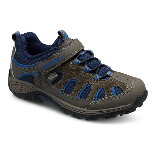 Kids Merrell Chameleon Low A/C Waterproof Hiking Shoe - Gunsmoke/Blue 3