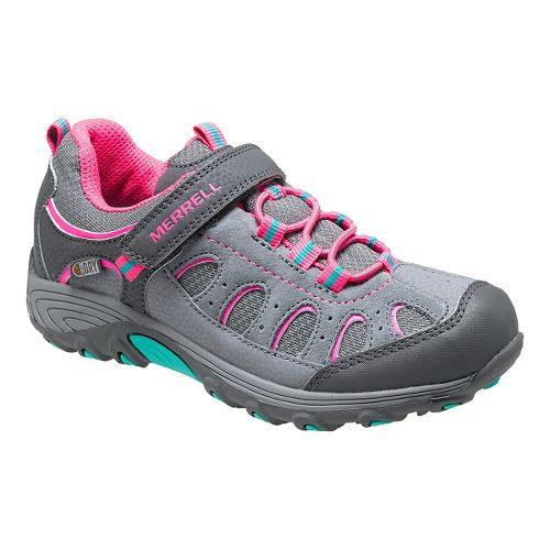 Kids Merrell Chameleon Low A/C Waterproof Hiking Shoe - Walnut/Red 13.5