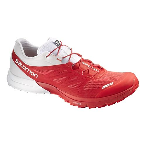 Salomon S-Lab Sense 4 Ultra Trail Running Shoe - Racing Red/White 11.5
