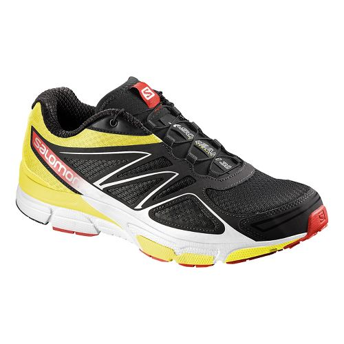 Mens Salomon X-Scream 3D Trail Running Shoe - Black/Yellow/Red 11.5