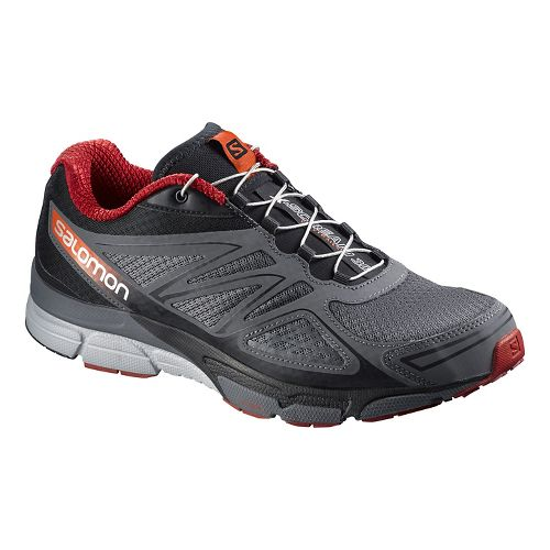 Mens Salomon X-Scream 3D Trail Running Shoe - Grey/Red 10.5