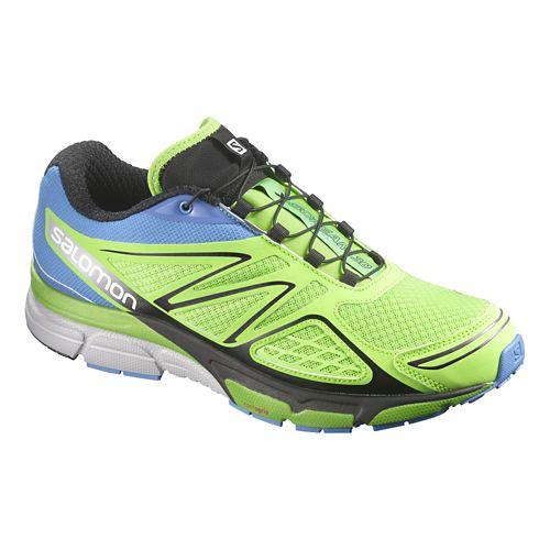 Mens Salomon X-Scream 3D Trail Running Shoe - Green/Blue 12