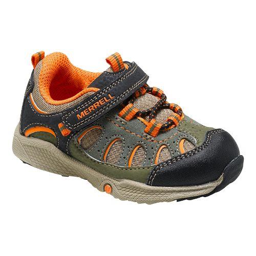 Kids Merrell Chameleon A/C JR Hiking Shoe - Olive/Orange 6