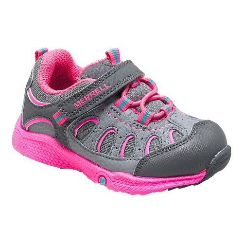 Kids Merrell Chameleon A/C JR Hiking Shoe - Grey/Pink 5.5