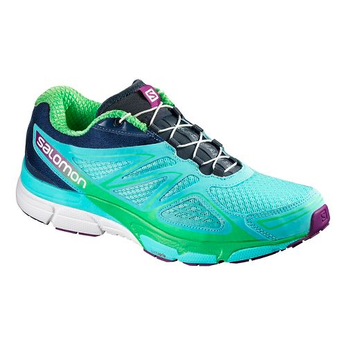 Womens Salomon X-Scream 3D Trail Running Shoe - Bubble Blue 9