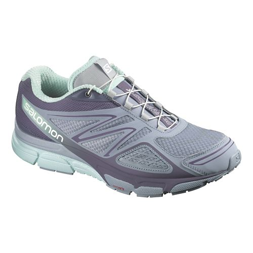 Womens Salomon X-Scream 3D Trail Running Shoe - Stone Blue/Grey 10