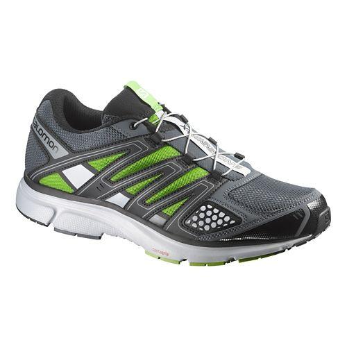 Mens Salomon X-Mission 2 Trail Running Shoe - Grey/Green 10