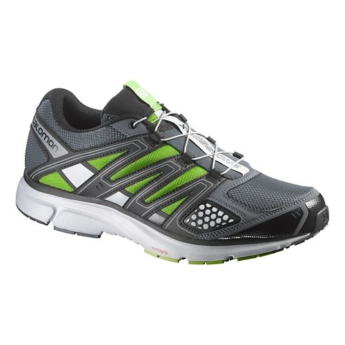 Mens Salomon X-Mission 2 Trail Running Shoe - Grey/Green 8.5