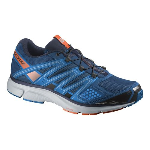 Mens Salomon X-Mission 2 Trail Running Shoe - Blue/Red 11