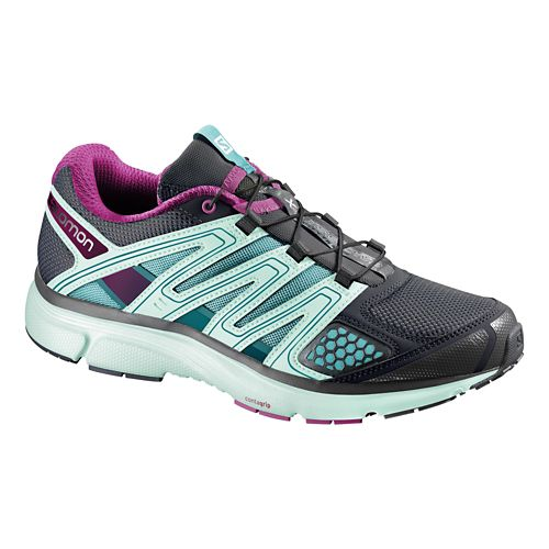Womens Salomon X-Mission 2 Trail Running Shoe - Igloo Blue/Purple 7.5