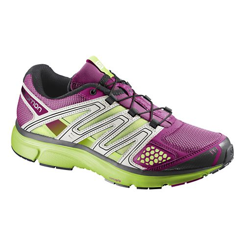 Womens Salomon X-Mission 2 Trail Running Shoe - Mystic Purple/Green 9.5