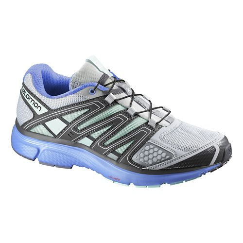 Womens Salomon X-Mission 2 Trail Running Shoe - Igloo Blue/Purple 9.5