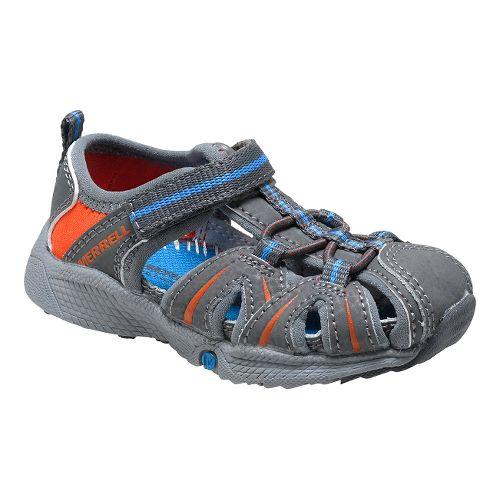 Kids Merrell Hydro Hiker Sandal JR Sandals Shoe - Grey/Blue 6.5