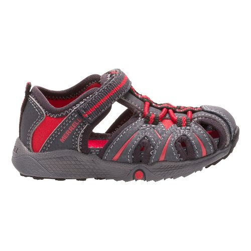 Merrell Hydro Hiker Sandals Shoe - Grey/Red 8C
