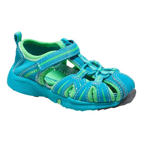 Kids Merrell Hydro Hiker Sandal JR Sandals Shoe - Turquoise/Green 7.5