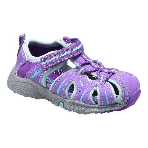 Kids Merrell Hydro Hiker Sandal JR Sandals Shoe - Purple/Blue 8