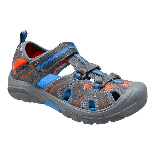 Kids Merrell Hydro Hiker Sandal Sandals Shoe - Grey/Blue 13