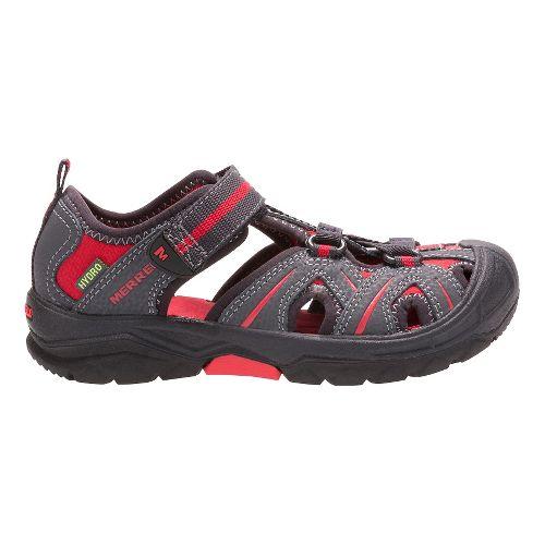 Kids Merrell Hydro Hiker Sandal Shoe - Grey/Red 6Y