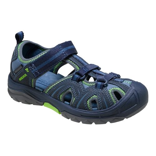 Kids Merrell Hydro Hiker Sandal Sandals Shoe - Navy/Green 13