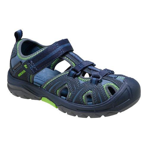Kids Merrell Hydro Hiker Sandal Shoe - Navy/Green 3Y