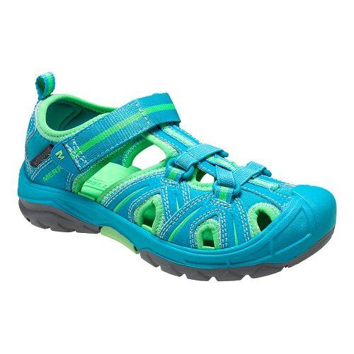 Kids Merrell Hydro Hiker Sandal Shoe - Turq/Green 7Y
