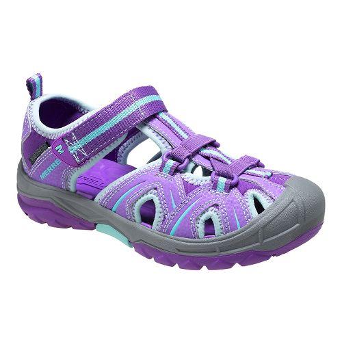 Kids Merrell Hydro Hiker Sandal Sandals Shoe - Purple/Blue 4
