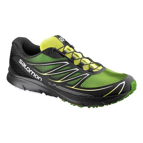 Mens Salomon Sense Mantra 3 Trail Running Shoe - Green/Black 11.5