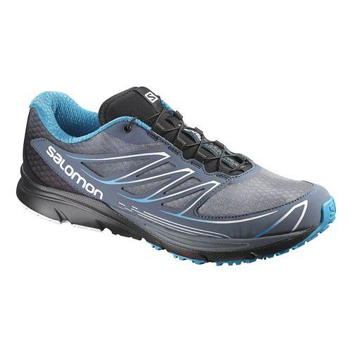 Mens Salomon Sense Mantra 3 Trail Running Shoe - Blue/Black 7.5