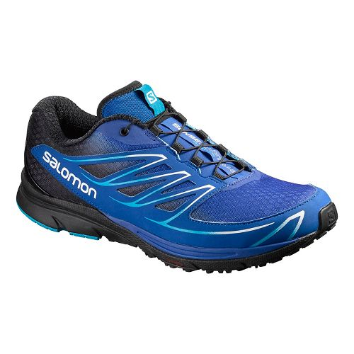 Mens Salomon Sense Mantra 3 Trail Running Shoe - Blue Yonder/Black 10.5