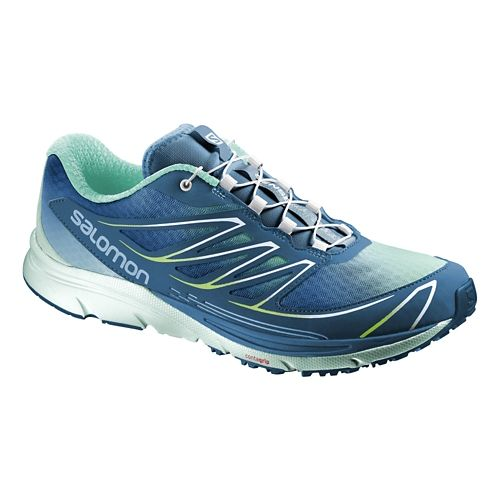 Womens Salomon Sense Mantra 3 Trail Running Shoe - Blue/Igloo 5