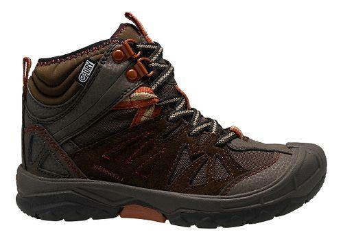 Kids Merrell Capra Mid Waterproof Hiking Shoe - Brown 11C