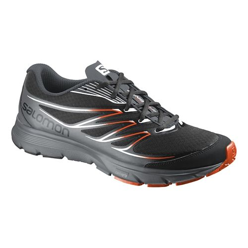 Mens Salomon Sense Link Trail Running Shoe - Black/Red 9