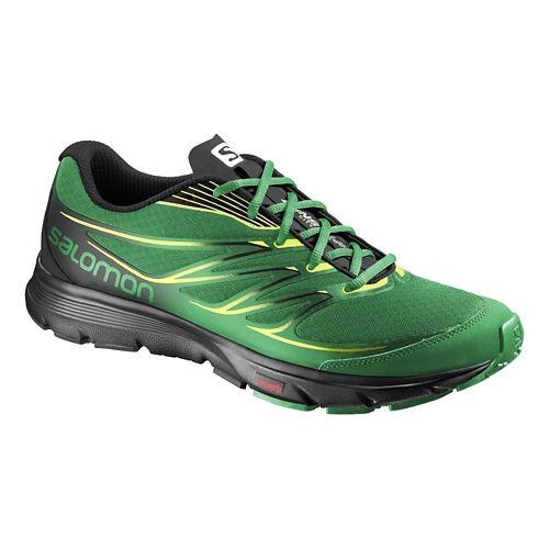 Mens Salomon Sense Link Trail Running Shoe - Fern Green/Black 10