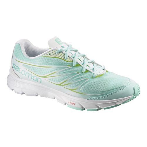 Womens Salomon Sense Link Trail Running Shoe - Igloo/White 7