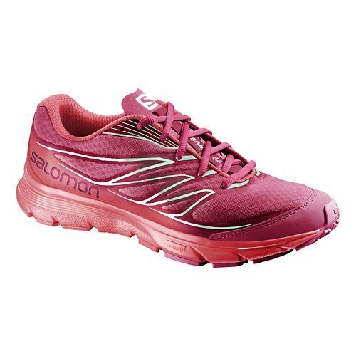 Womens Salomon Sense Link Trail Running Shoe - Lotus/Papaya 8