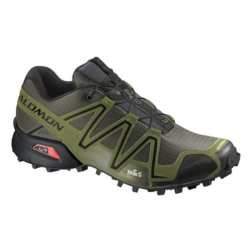 Mens Salomon Speedcross 3 GTX Trail Running Shoe - Dark Khaki 12.5