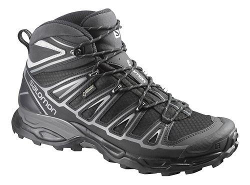 Mens Salomon X-Ultra Mid 2 GTX Hiking Shoe - Black 7.5