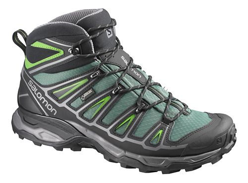 Mens Salomon X-Ultra Mid 2 GTX Hiking Shoe - Green/Black 8