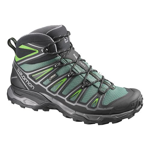 Mens Salomon X-Ultra Mid 2 GTX Hiking Shoe - Green/Black 7.5