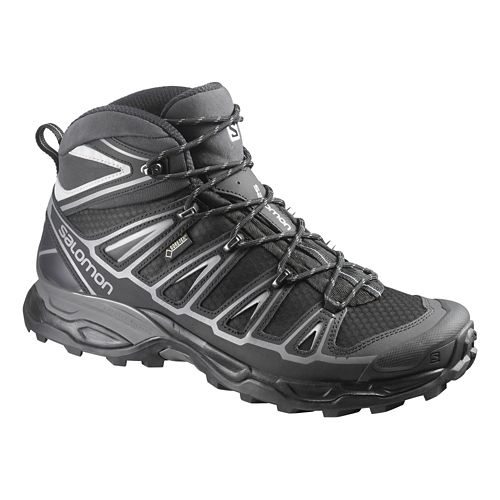 Mens Salomon X-Ultra Mid 2 GTX Hiking Shoe - Green/Black 10.5