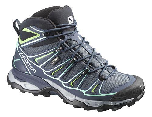 Womens Salomon X-Ultra Mid 2 GTX Hiking Shoe - Grey Denim 8.5