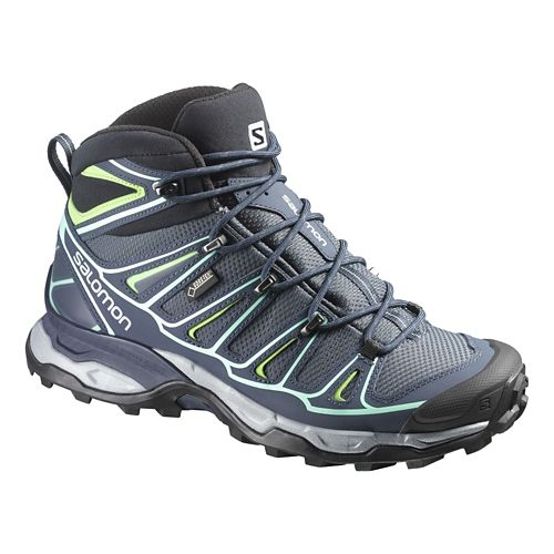 Womens Salomon X-Ultra Mid 2 GTX Hiking Shoe - Grey Denim 10