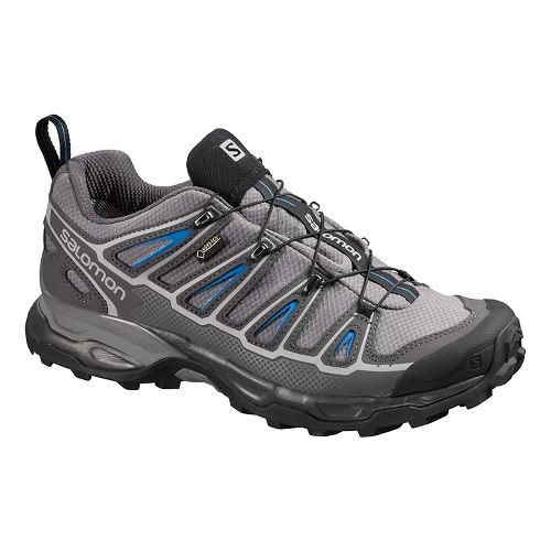 Mens Salomon X-Ultra 2 GTX Hiking Shoe - Grey/Blue 10.5