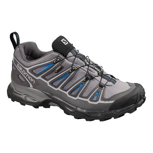 Mens Salomon X-Ultra 2 GTX Hiking Shoe - Grey/Blue 9.5