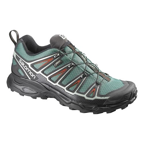Mens Salomon X-Ultra 2 GTX Hiking Shoe - Green/Black 7.5