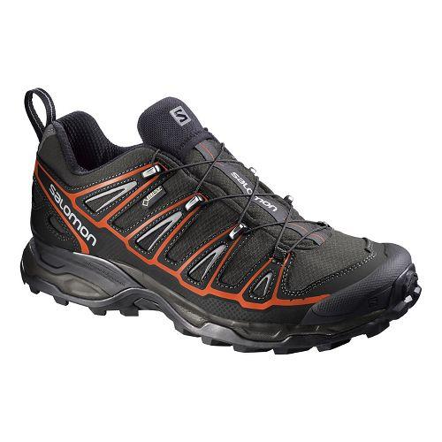 Mens Salomon X-Ultra 2 GTX Hiking Shoe - Autobahn/Black/Tomato 10