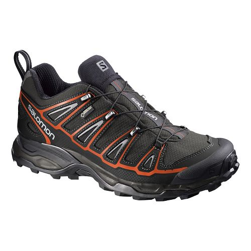 Mens Salomon X-Ultra 2 GTX Hiking Shoe - Autobahn/Black/Tomato 8.5