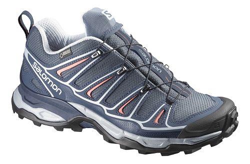 Womens Salomon X-Ultra 2 GTX Hiking Shoe - Grey/Deep Blue 9.5