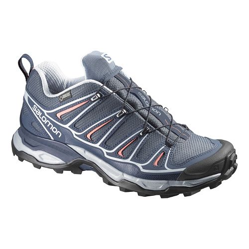 Womens Salomon X-Ultra 2 GTX Hiking Shoe - Grey/Deep Blue 10
